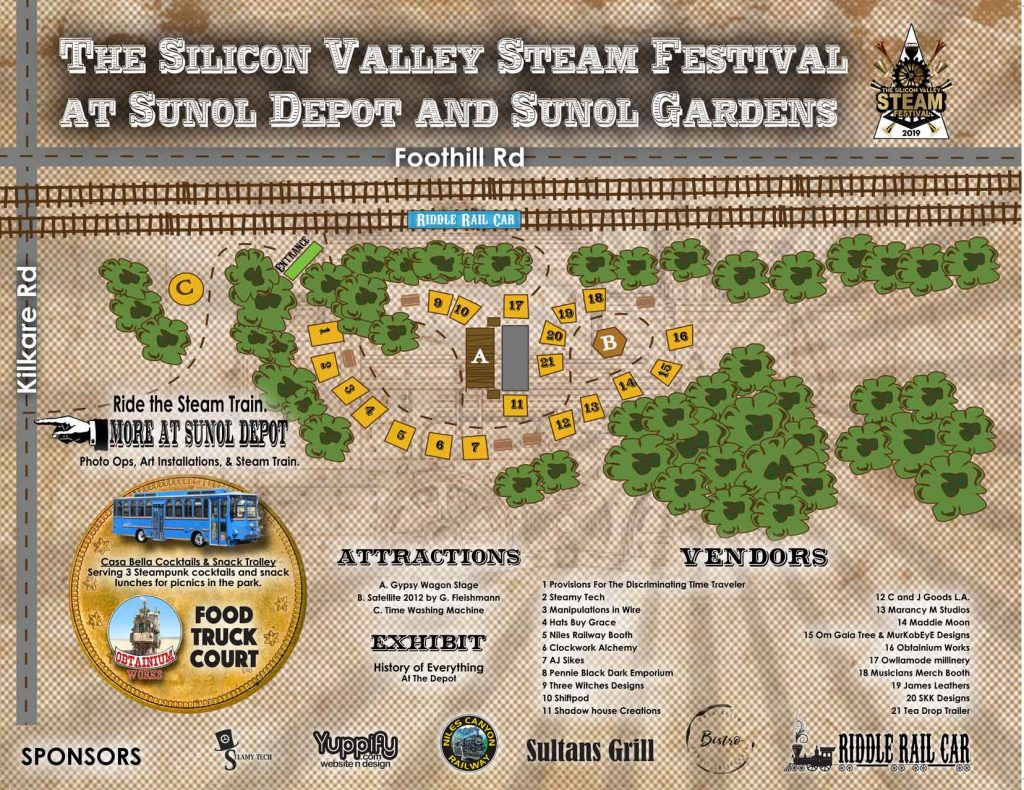 2019 Silicon Valley Steam Festival Map