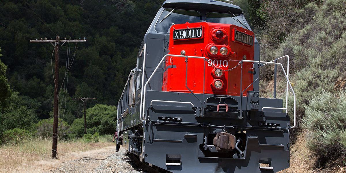 Niles Canyon Railway-Southern Pacifc 9010 locomotive in Niles Canyon